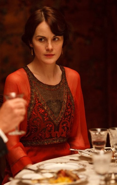 divine fashions on Downton Abbey