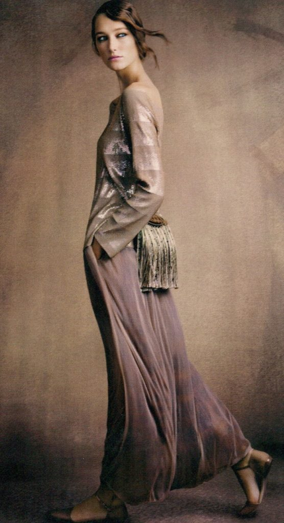 Armani look from Vogue, spring 2015