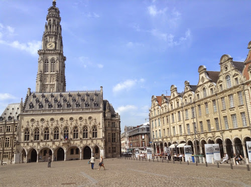 Place des Heroes in Arras, France