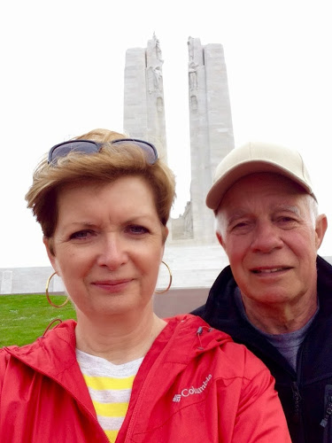selfie at the Vimy Monument