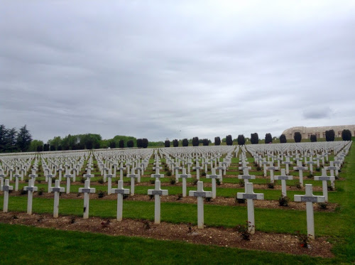 French WWI cemetary at Douaumont Ossuaire, near Verdun