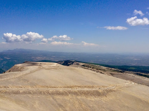 view from the top of Mont Ventoux