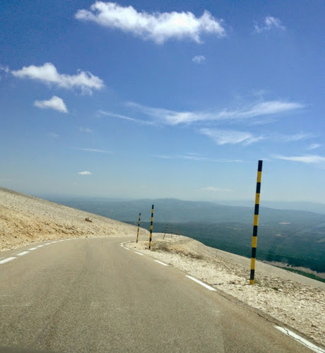 going down Mont Ventoux
