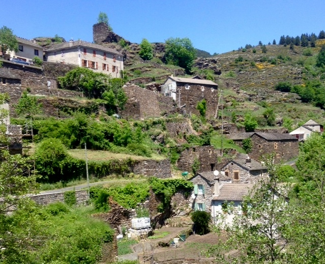 hillside village in Languedoc