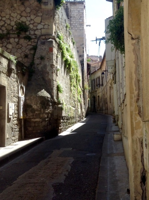 street in ancient Arles, France
