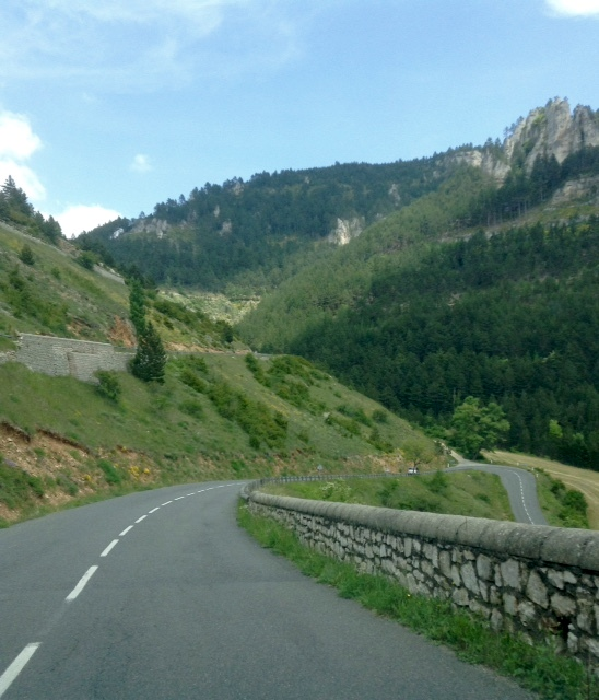 road near Ispagnac, France