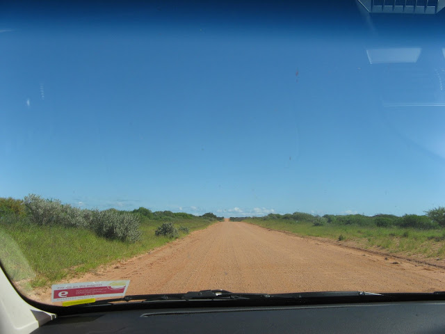 long straight dirt road
