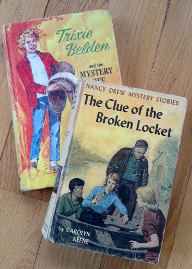 two of my fav Trixie Belden and Nancy Drew books