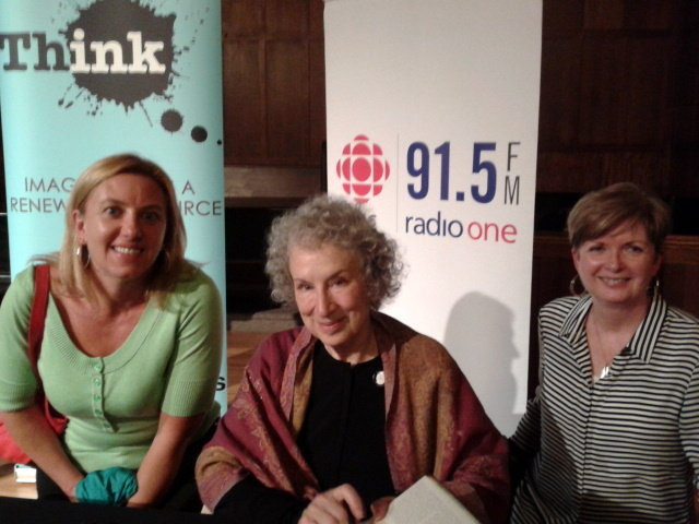 Nancy and Maggie (Margaret Atwood) and me...October 2013
