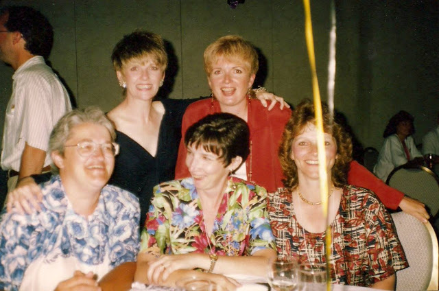 Colleen, Debie, Nancy, Judy and me. 20th Reunion, 1994