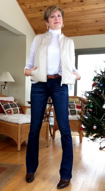 New jeans with Max Mara vest