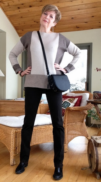 Vince sweater with Yoga jeans