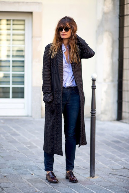 Caroline de Maigret in a Frnch coat