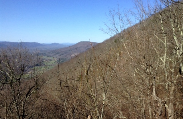 hiking McAfee's Knob