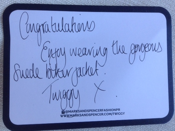 personal note from Twiggy