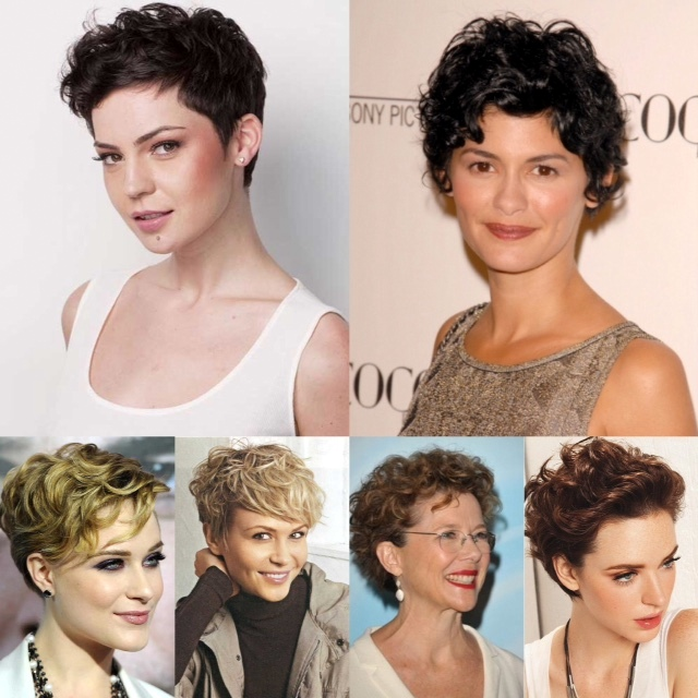 various short curly cuts that I love.