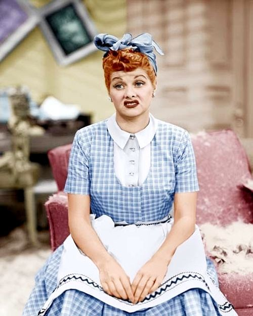 Lucille Ball's look expresses just how I feel about cleaning
