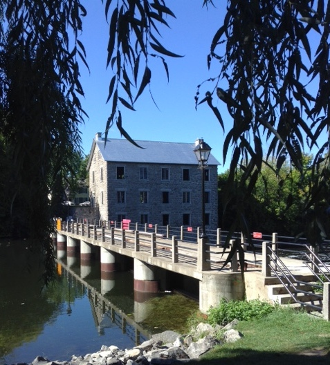 Historic Dickinson's Mill on the Rideau River in Manotick