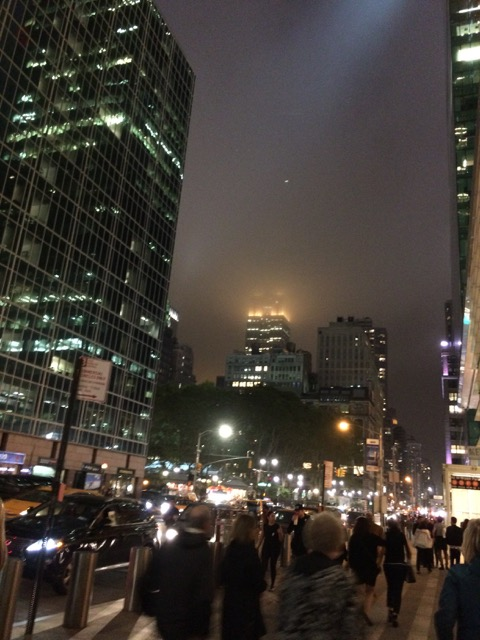 The Empire State Building disappearing into the mist