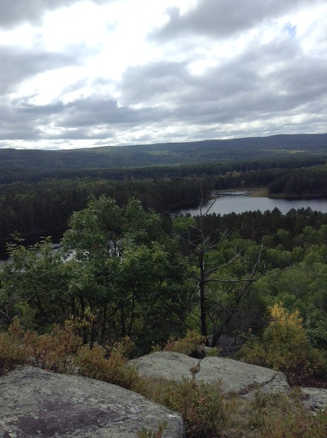 View from Whispering Winds Lookout on the edge of Algonquin Park, Ontario
