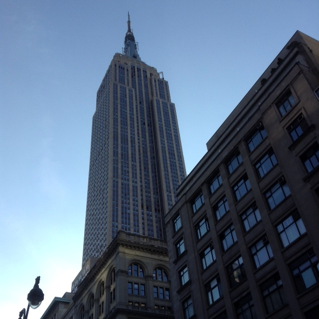 View of the Empire State Building which was near the Gregory Hotel. NYC
