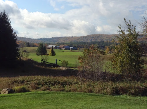 Playing golf at Wolf Ridge, near Wilno, Ontario