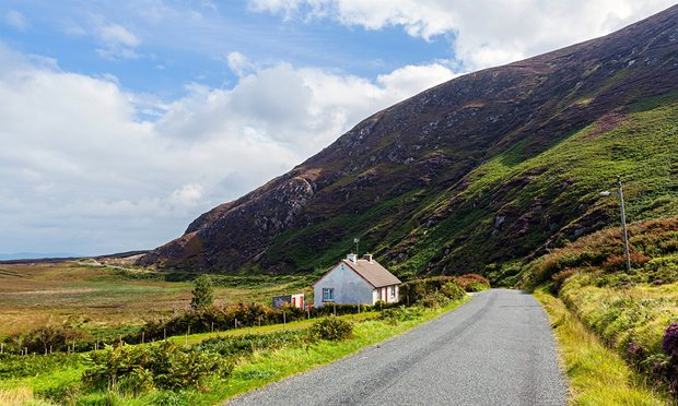 A green road in the Republic of Ireland, picture from The Guardian.