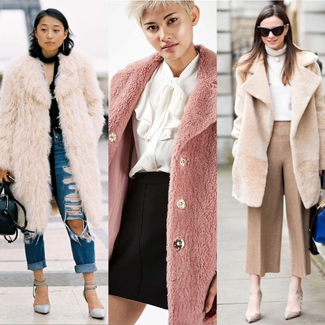 Faux fur coats from Marni, Top Shop, and Made to Measure