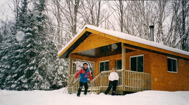Cross-country skiing on Leaf Lake Trails in Algonquin Park, Ontario.