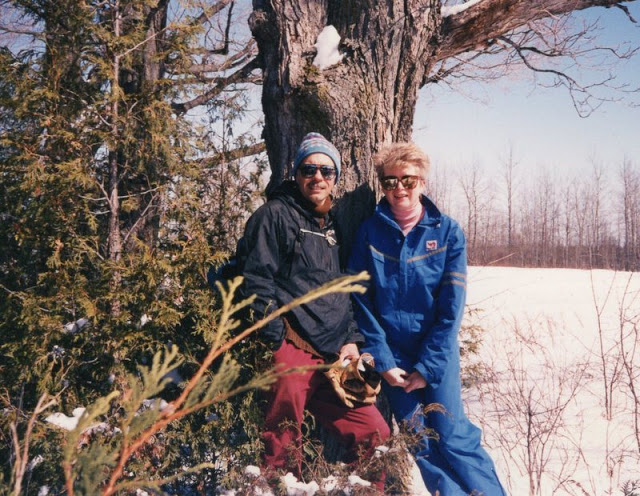 Cross-country skiing in Marlboro Forest, near North Gower, Ontario