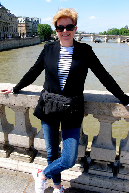 on the bridge near Notre Dame in Paris