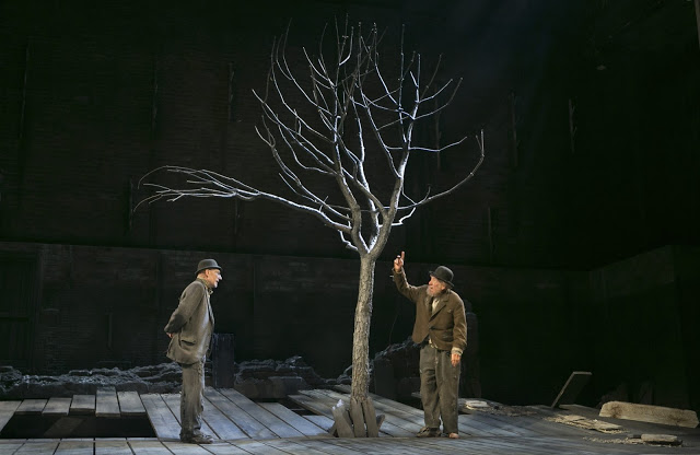 Scene from Waiting for Godot, at he Cort Theatre, New York, 2013. From a review in the Irish Times