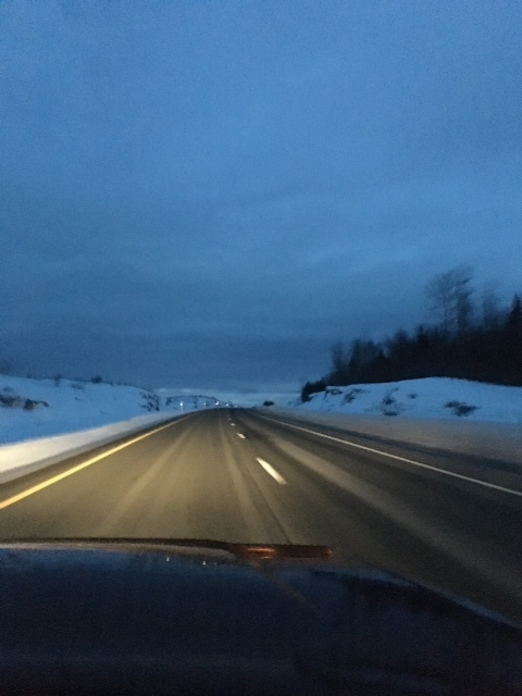 The highway home from Fredericton. Somewhere around Perth-Andover, New Brunswick