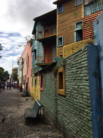 Buenos Aires, Argentina. colourful houses in the famous Caminita, in La Boca