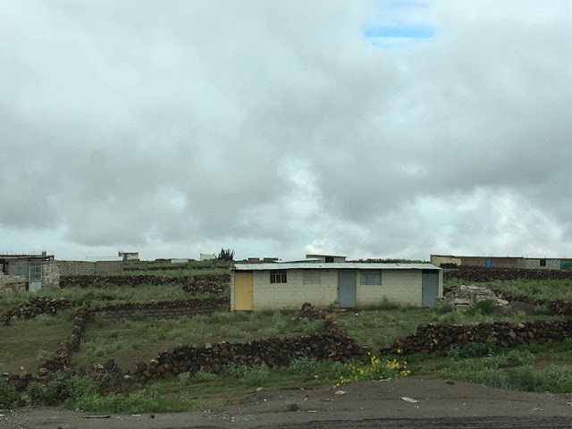 small homes on the outskirts of Arequipa, Peru