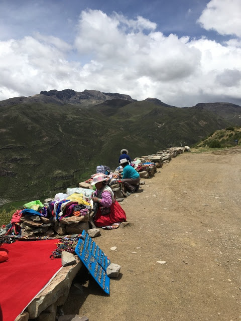 roadside artisans near Colca Canyon, Peru