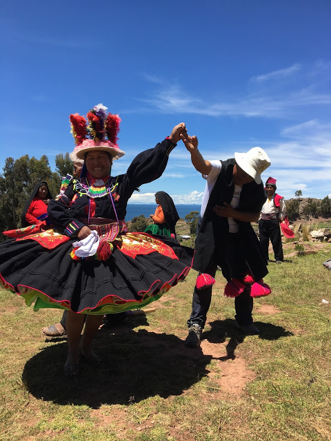 local dancer on Taquile Island, Peru