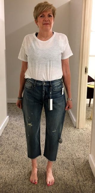 woman in ill fitting jeans