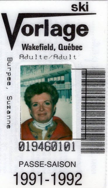 ski pass with picture of woman