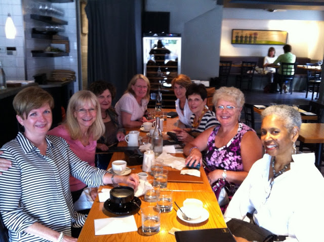 table of women at lunch