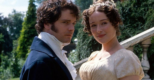 Jennifer Ehle as Elizabeth Bennet and Colin Firth as Darcy in 1995 Pride and Prejudice
