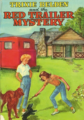 cover of Trixie Belden book, The Red Trailer Mystery