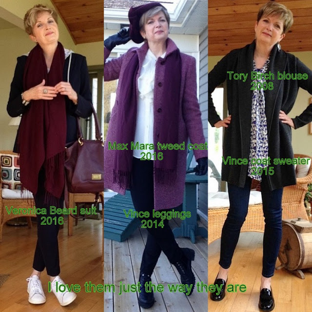 three women in fall outfits