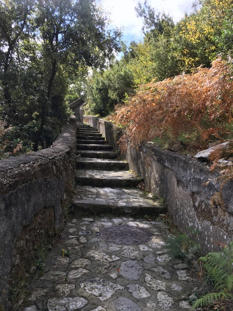 the ancient stairs from Agerola down to Amalfi, in Italy
