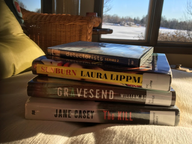 books by Jane Casey, William Boyle, and Laura Lippman