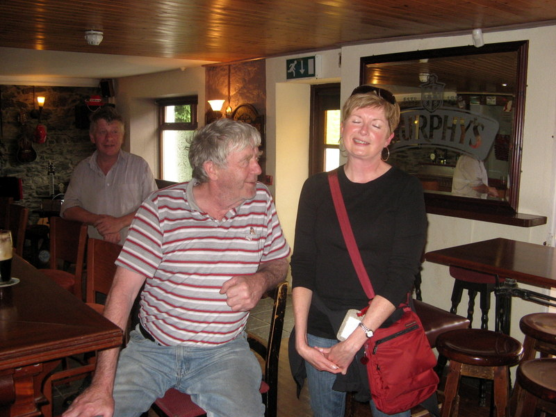 Me in a pub in Bantry, Ireland chatting with a possible Sullivan cousin.